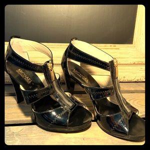 Michael Kors black zippered heels size 6